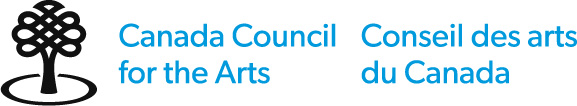 Canada Council for the Arts, Conceil des arts du Canada Logo, graphic of a black stylized tree on the far left.